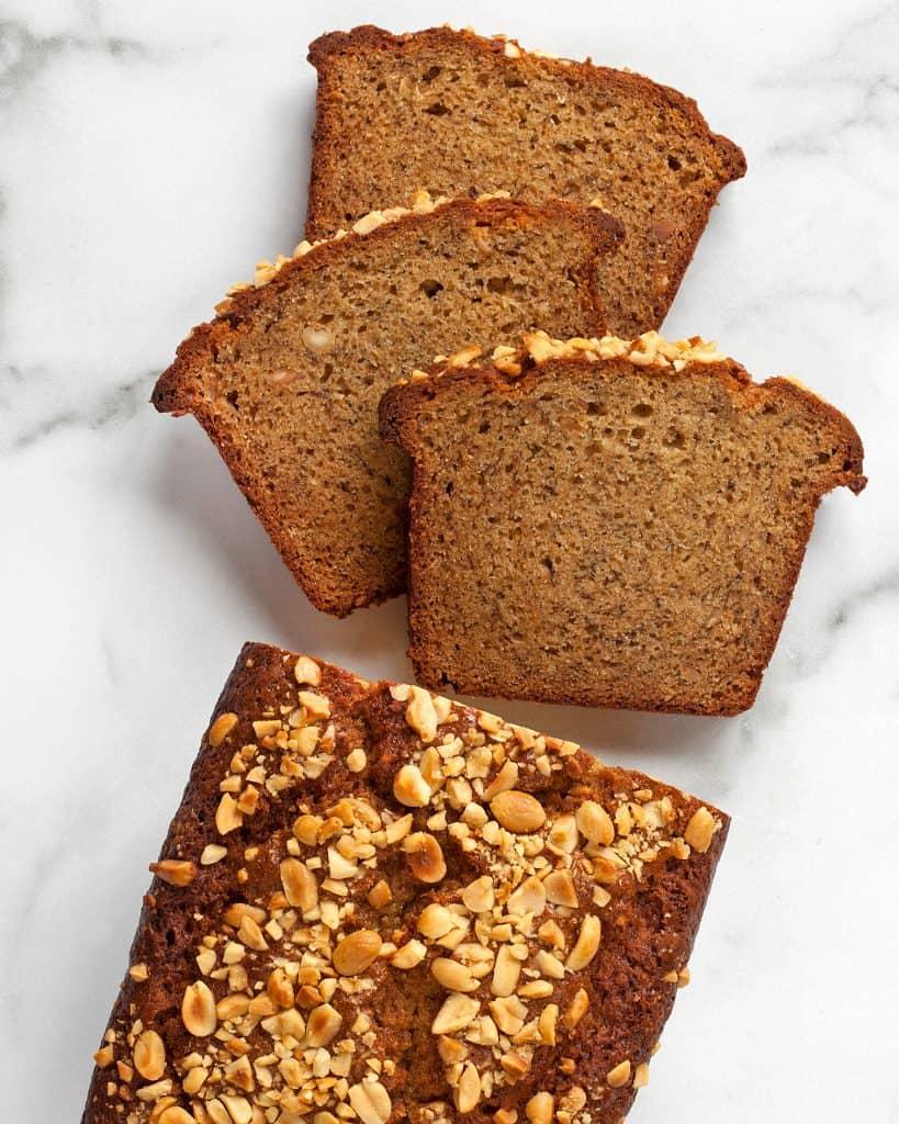 Crunchy Peanut Butter Banana Bread
