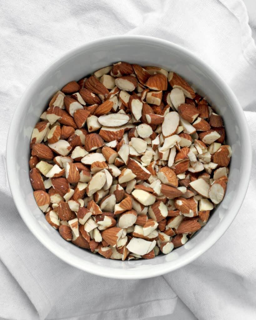 Chopped almonds
