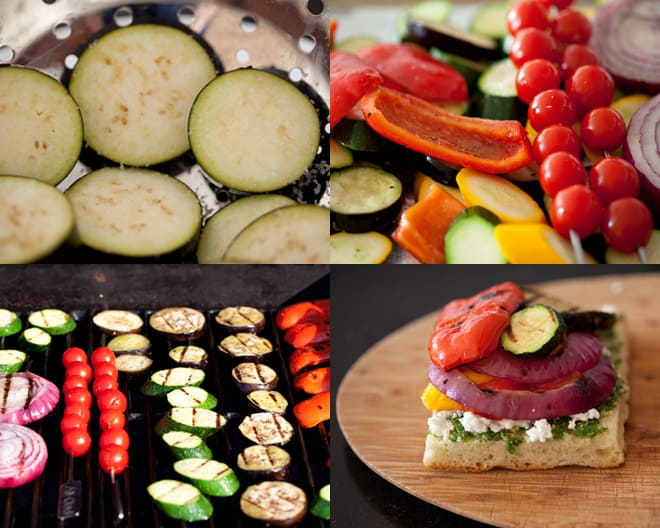 Grilled Vegetable Pesto Sandwich