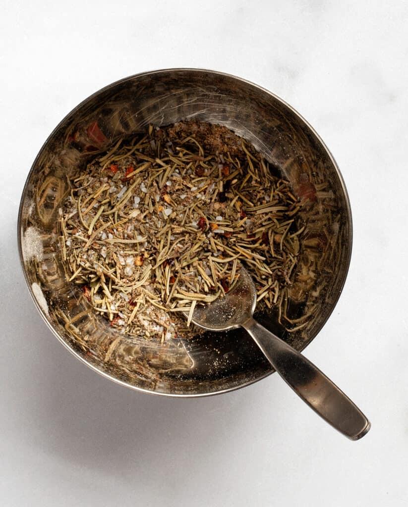 Turkey spice rub in a bowl