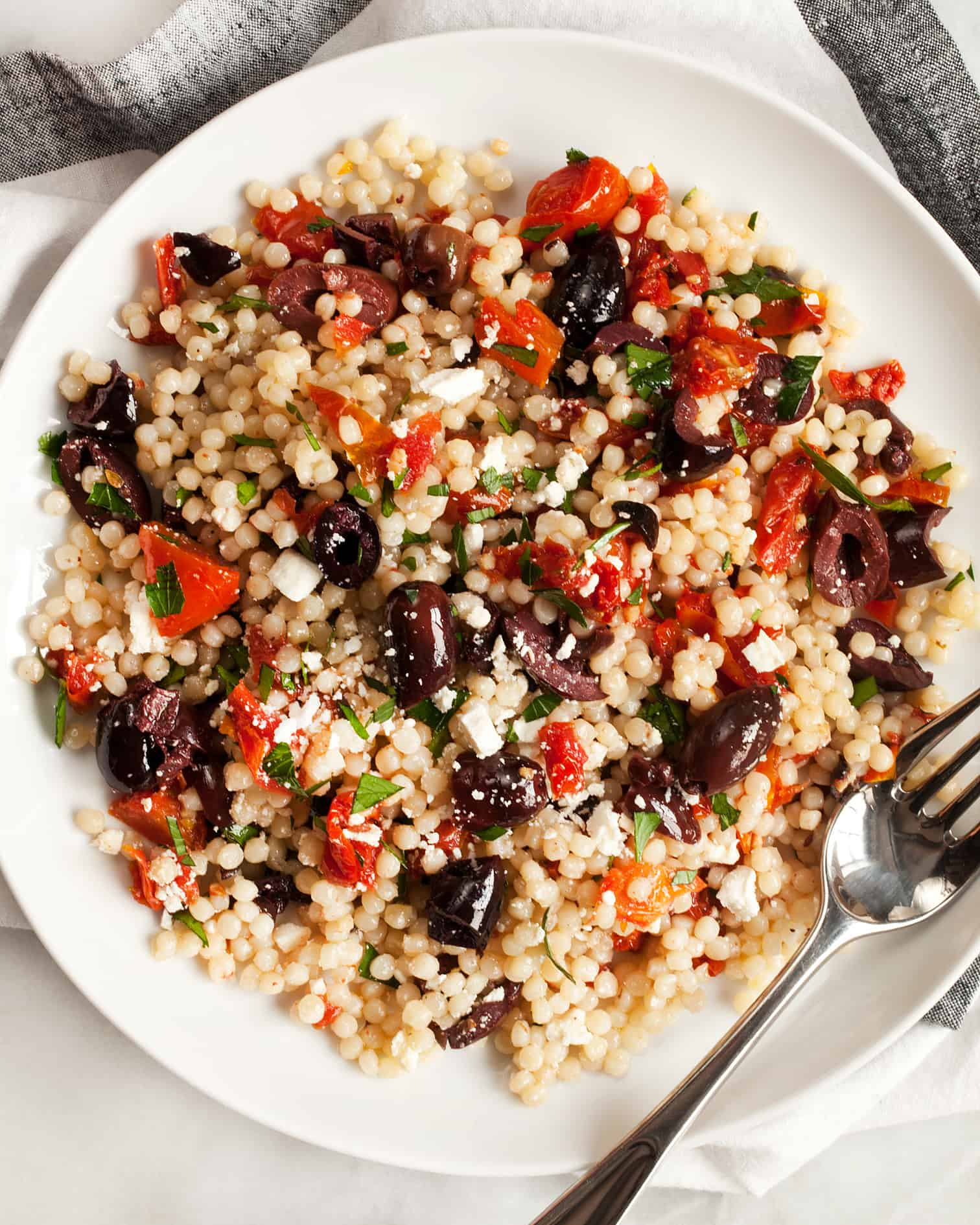 Sun-Dried Tomato & Olive Couscous