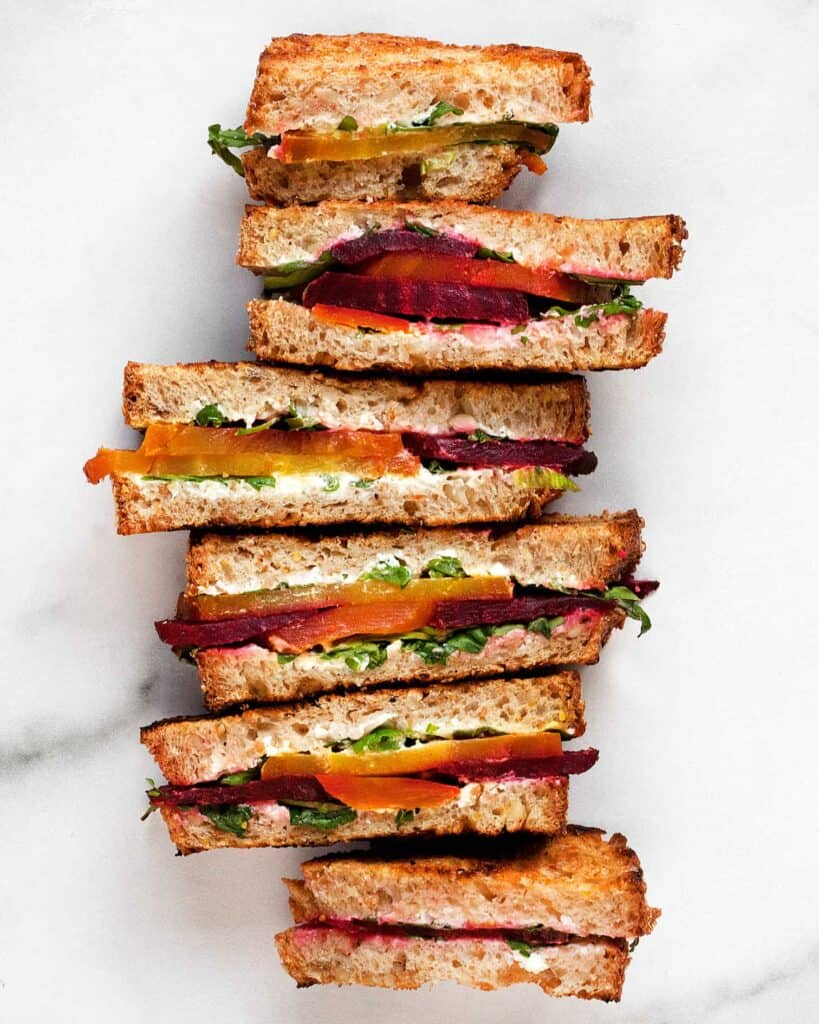 Beet Grilled Cheese