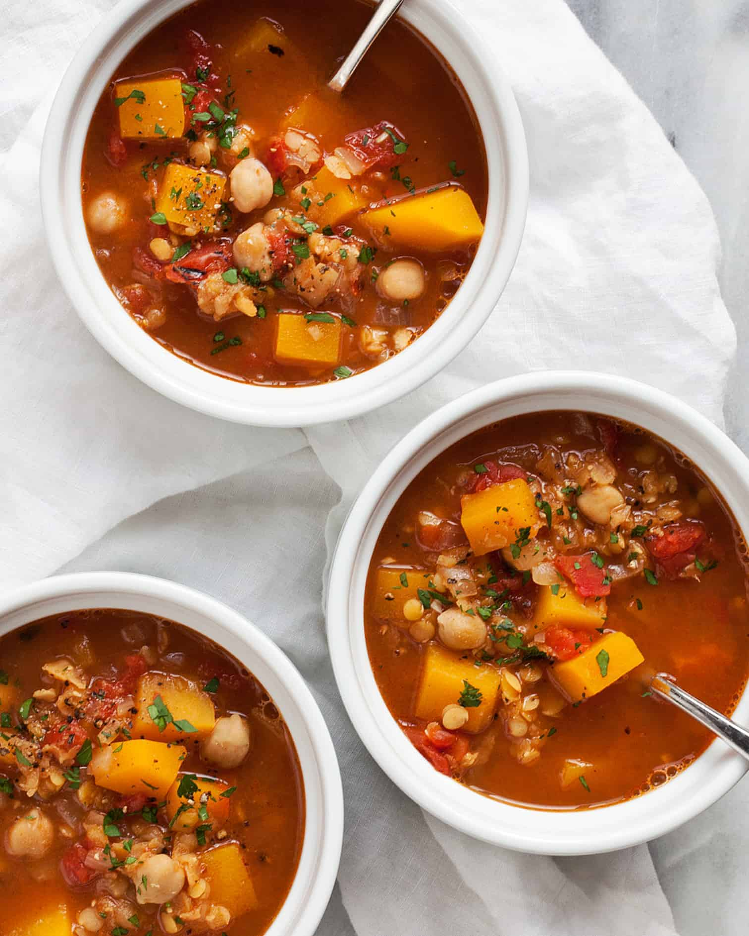 Spicy Red Lentil Chickpea Soup With Butternut Squash Last Ingredient