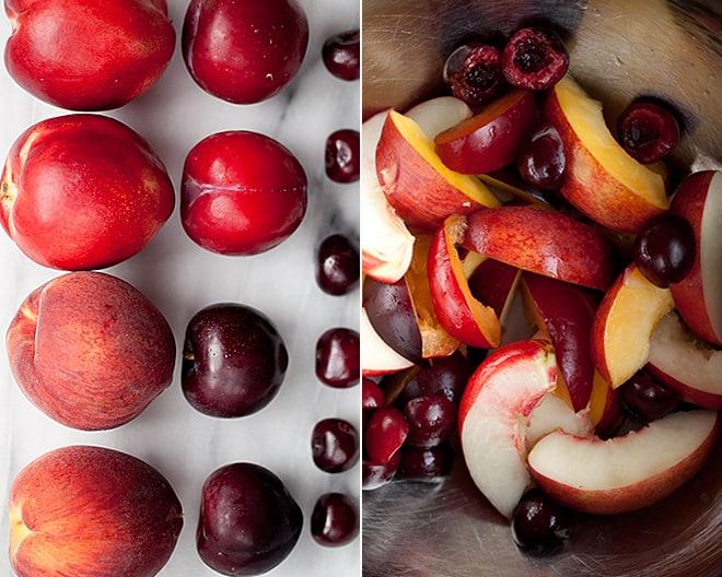 Stone Fruit Caprese