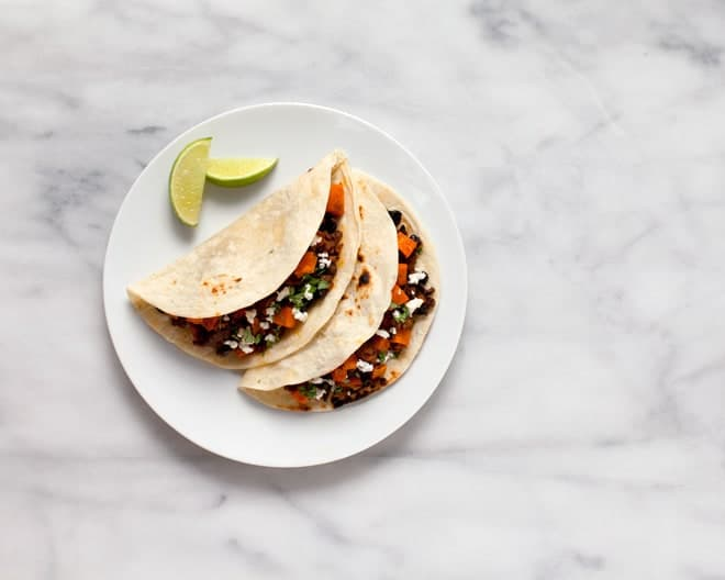 Sweet Potato Chorizo Tacos