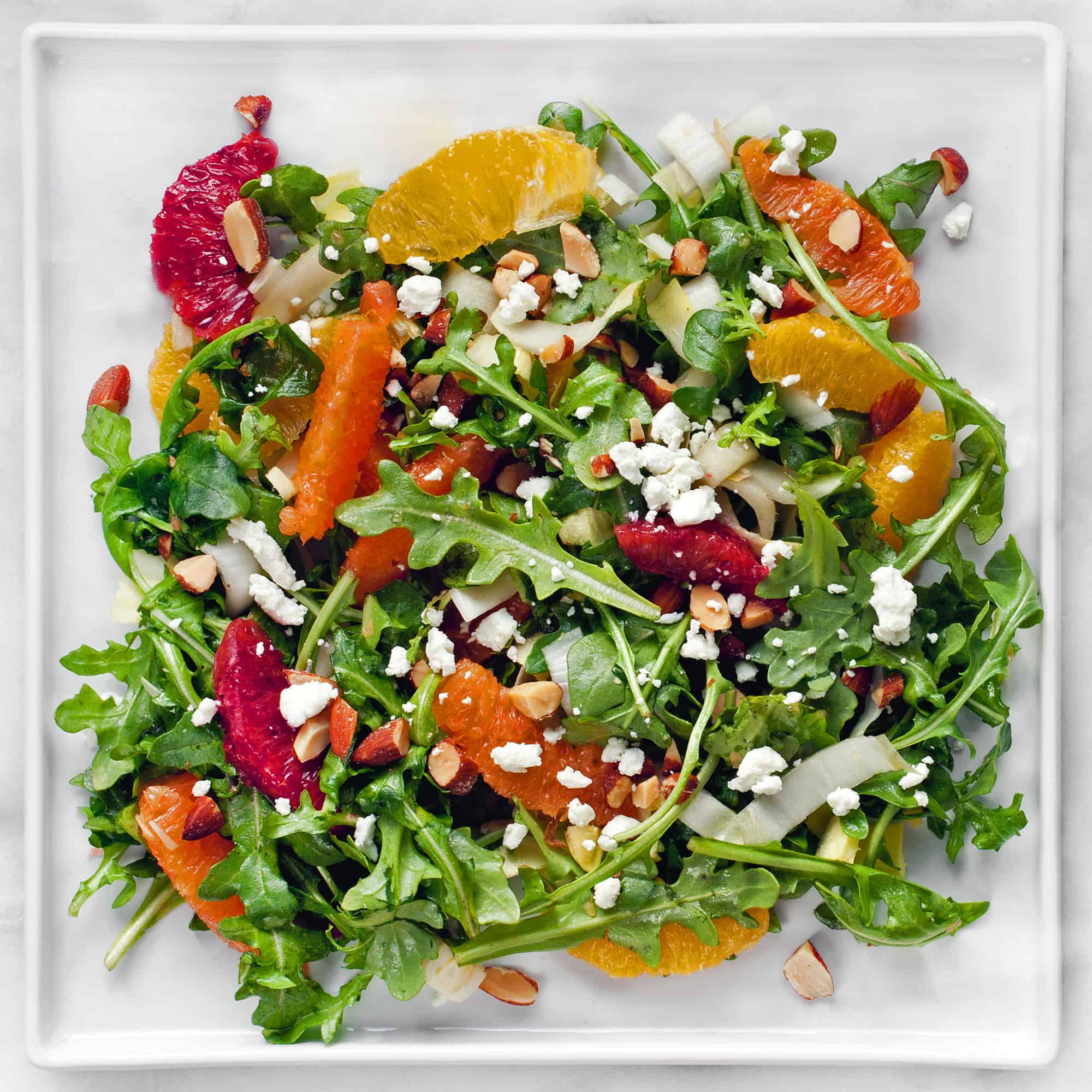 Citrus Salad with Smoked Almonds & Goat Cheese