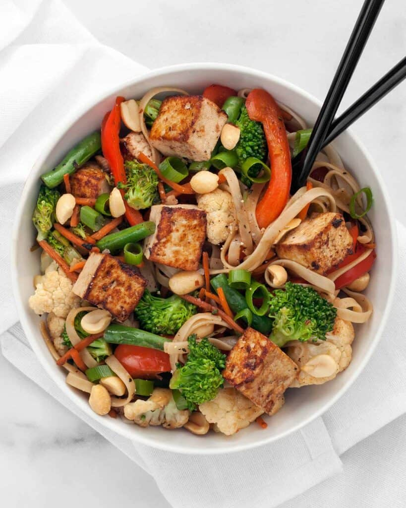 Mixed Veggie Tofu Stir Fry With Broccoli Peppers Last Ingredient
