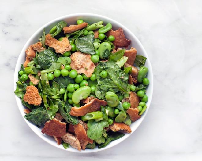 Fava Bean & Pea Fattoush