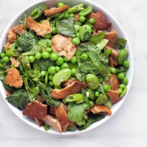 Fava Bean Pea Fattoush