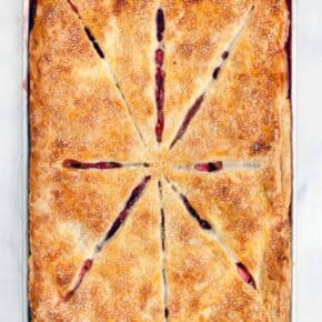 Strawberry Rhubarb Slab Pie