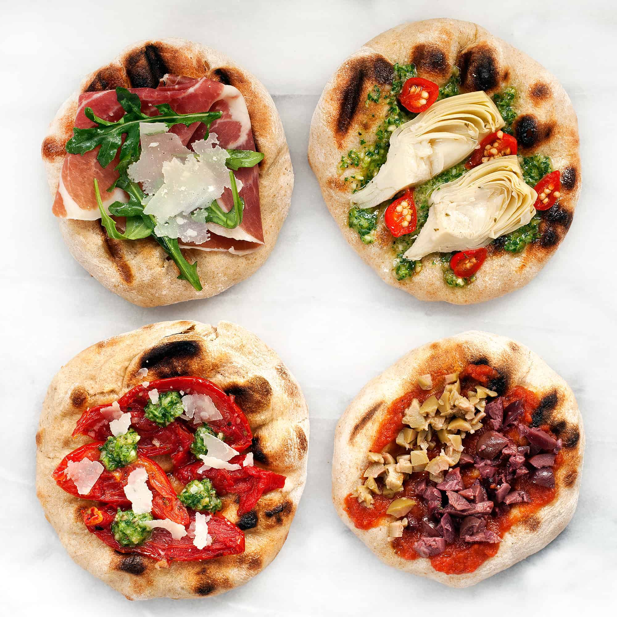 Grilled Antipasti Flatbreads