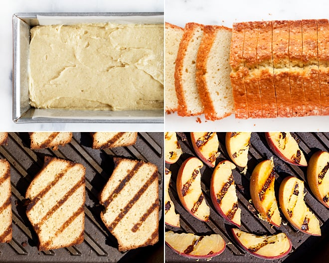 Grilled Almond Pound Cake