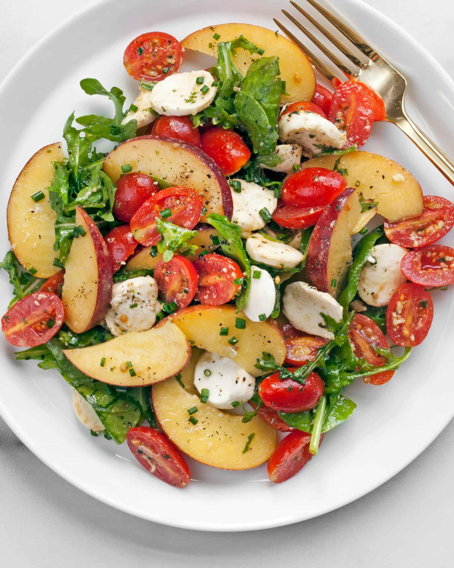 Peach Tomato Salad