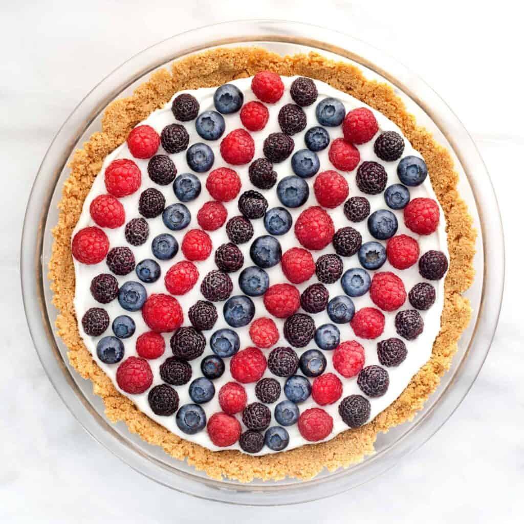 Berry Yogurt Pie