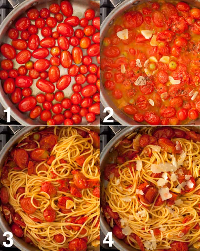 Cherry tomato pasta recipe steps