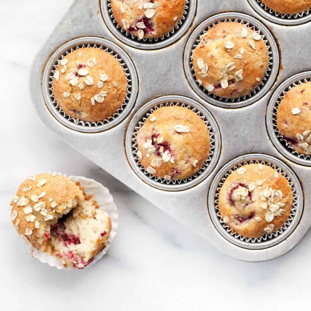 Raspberry Spelt Muffins