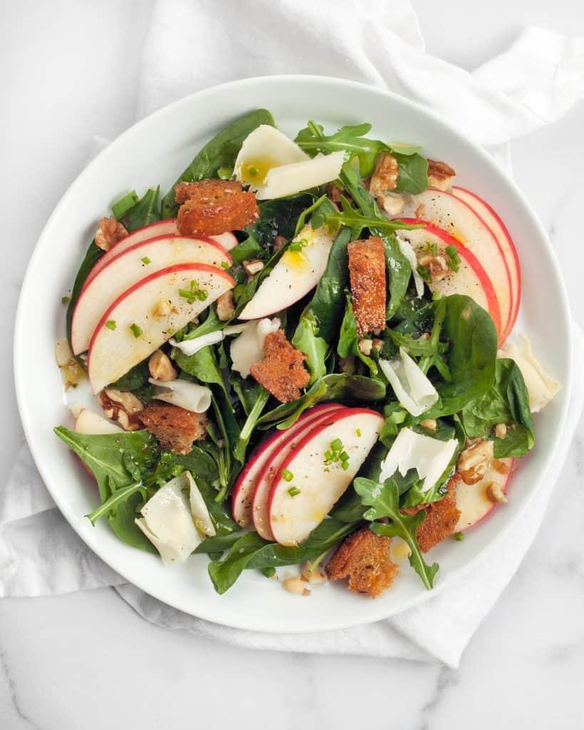 Apple Walnut Rye Salad