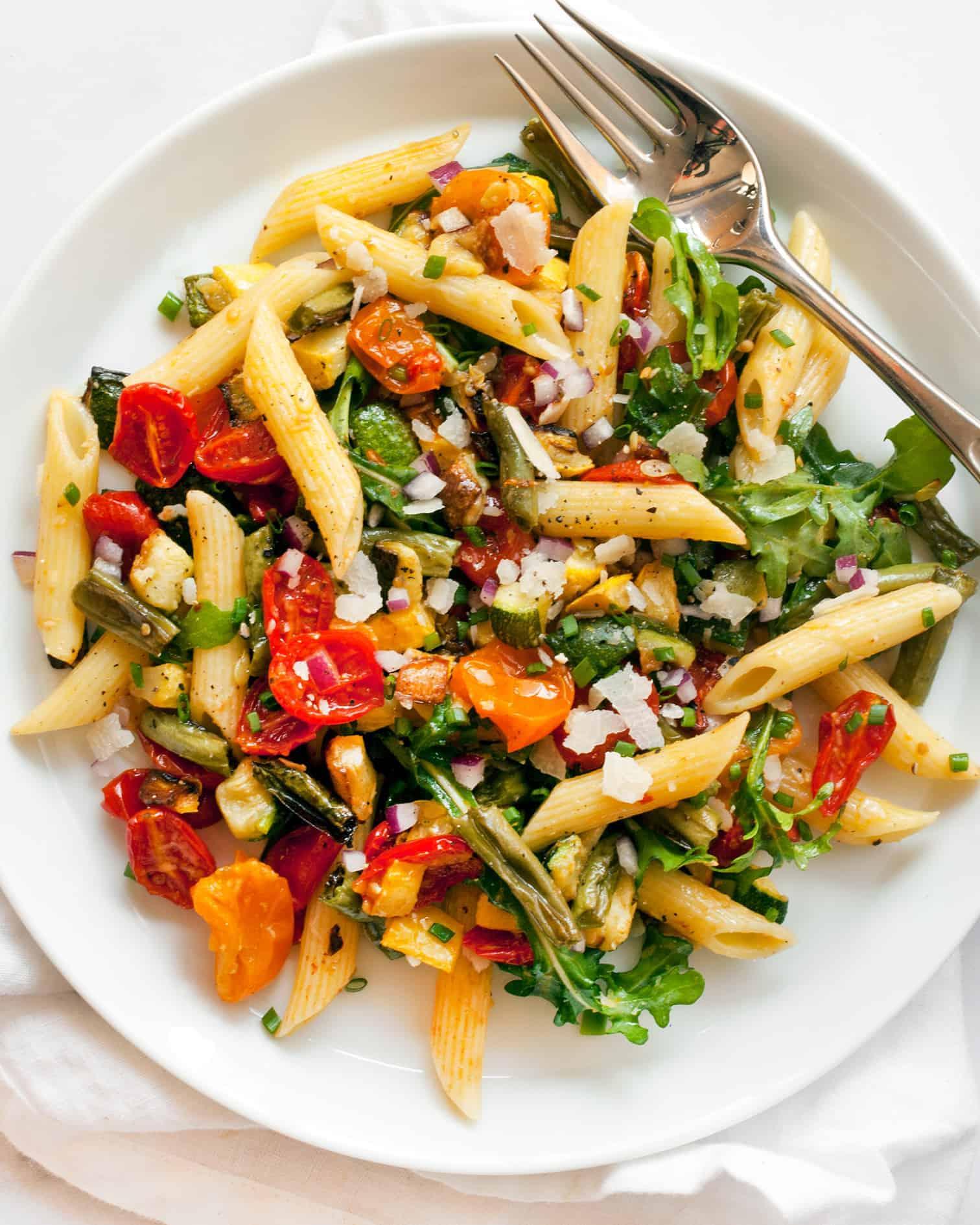 Roasted Tomato Zucchini Squash Pasta Salad Last Ingredient