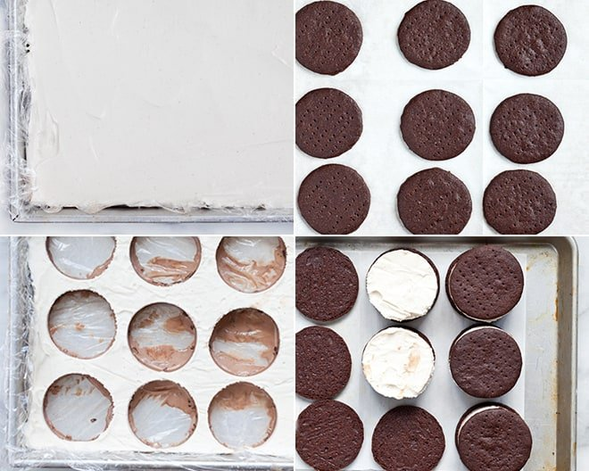 Black and White Ice Cream Sandwiches