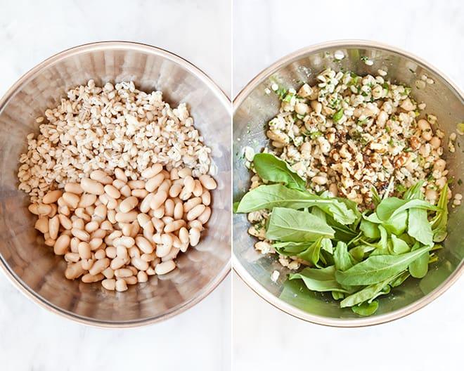 Pesto Barley with Scallions & Cannellini
