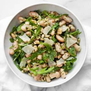 Pesto Barley with Scallions & Cannellini Beans