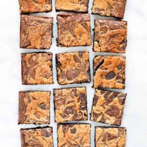 Tahini Swirl Brownies