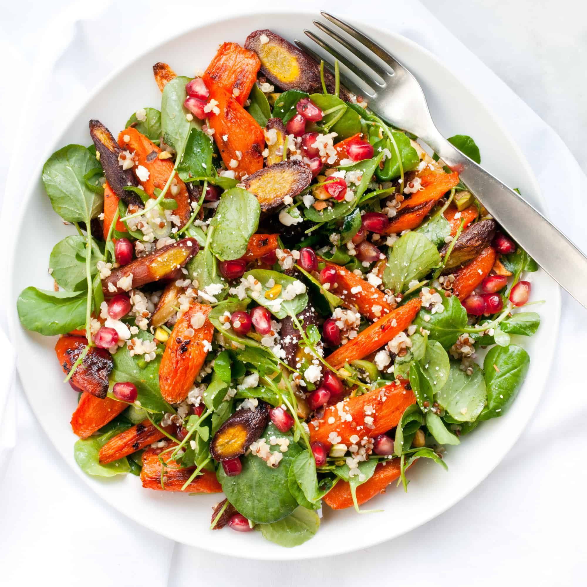 Roasted Carrot Feta Salad