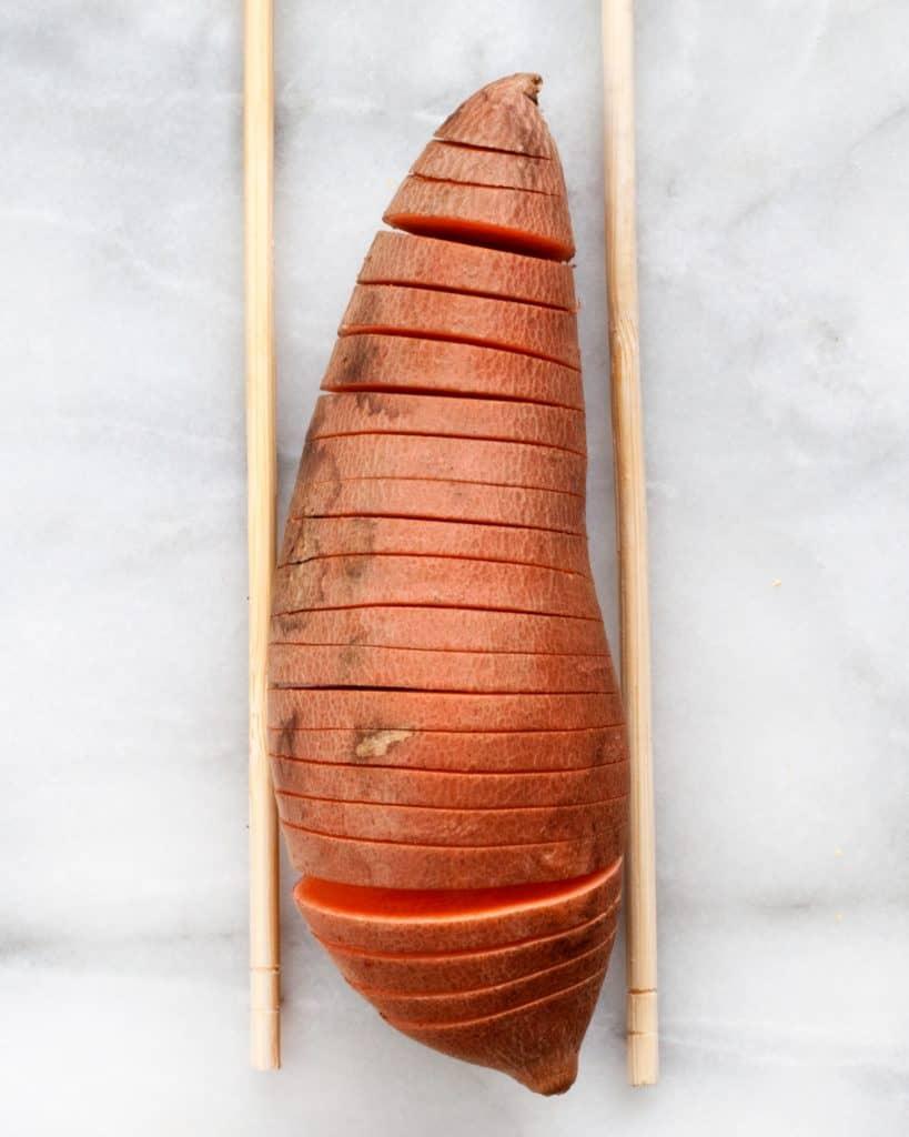 Haselback Sweet Potatoes