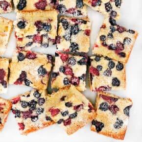Mixed Berry Cornmeal Cake