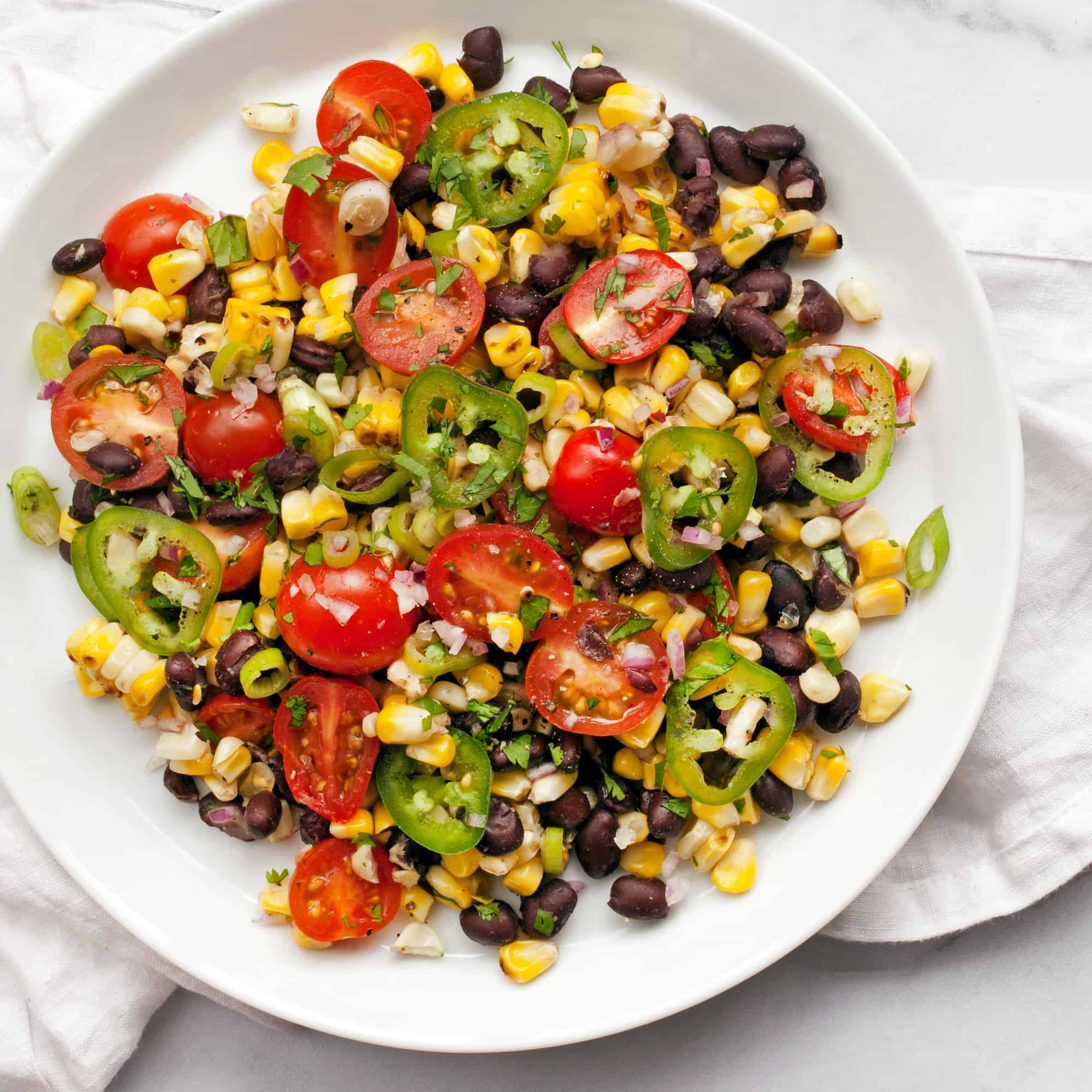 Grilled Corn Tomato Salad