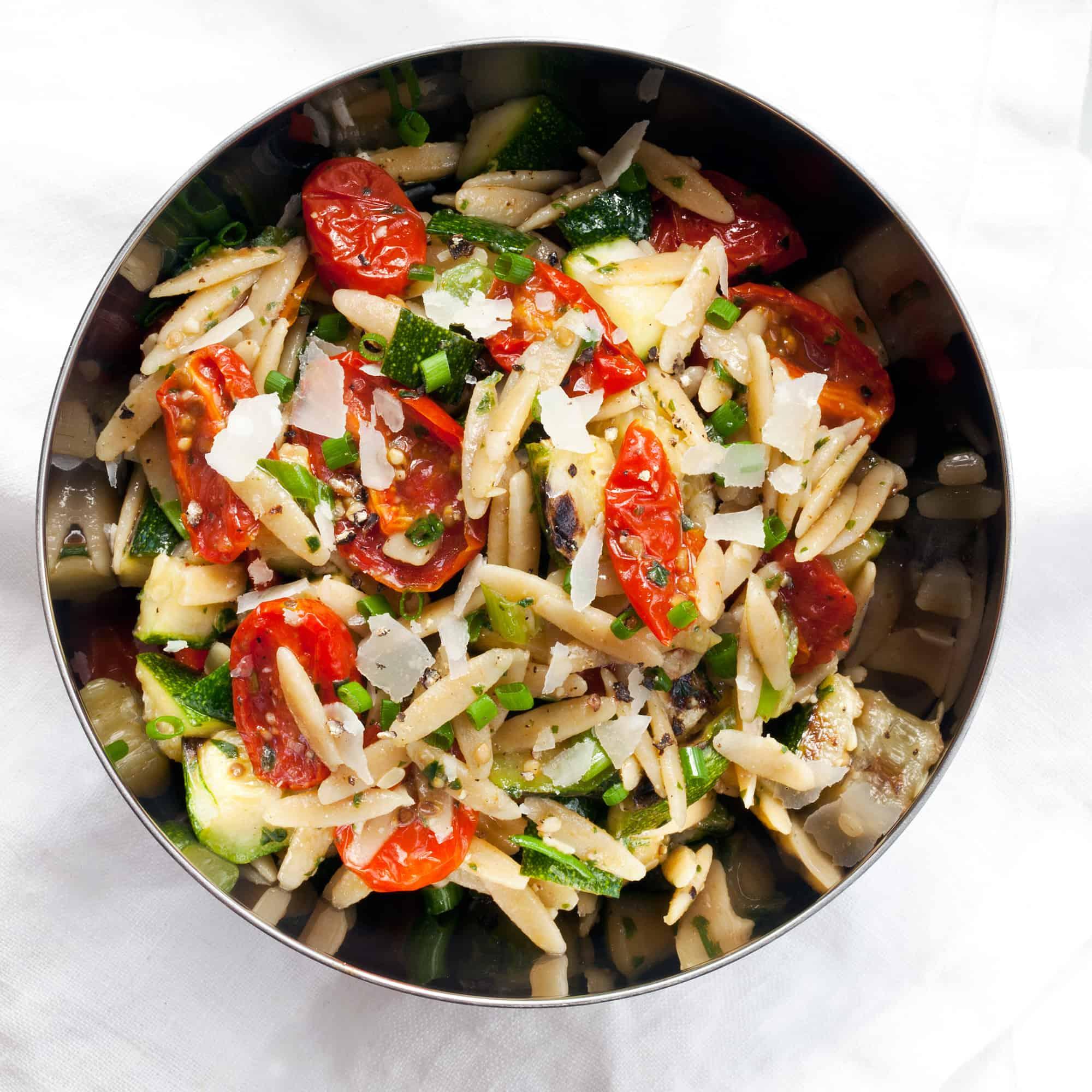 Slow-Roasted Tomato Zucchini Orzo