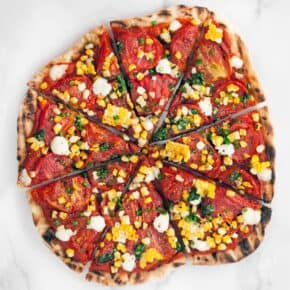 Grilled Corn and Roasted Tomato Pizza