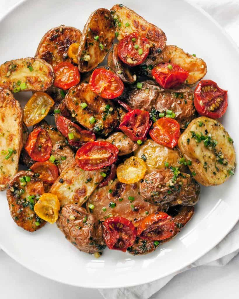 Roasted Tomato Pesto Potato Salad