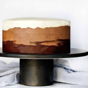 Triple Chocolate Ombre Cake