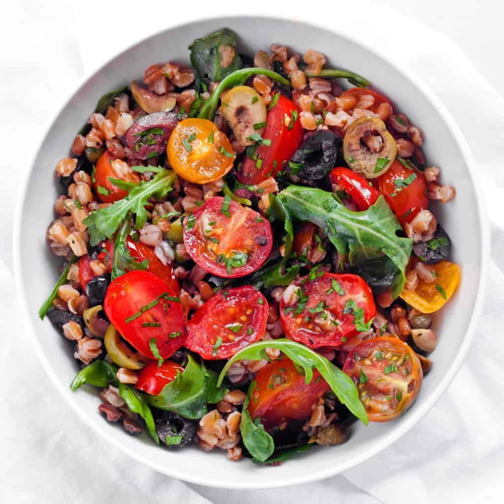 Fresh Tomato Farro Puttanesca