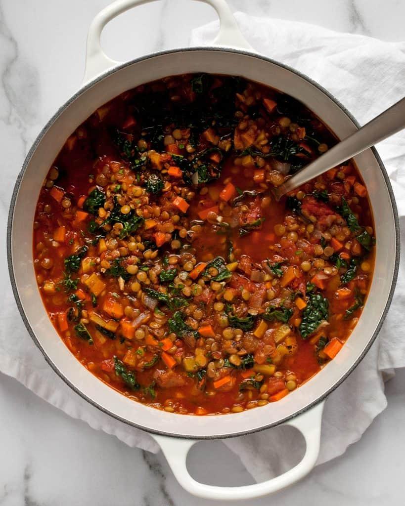 Tomato Carrot Lentil Soup