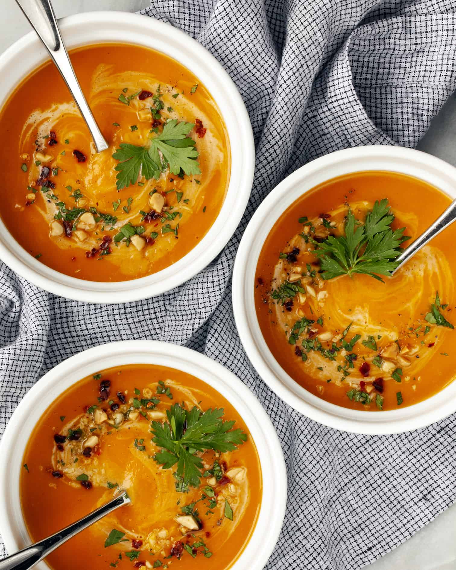 Slow Cooker Curried Butternut Squash Soup