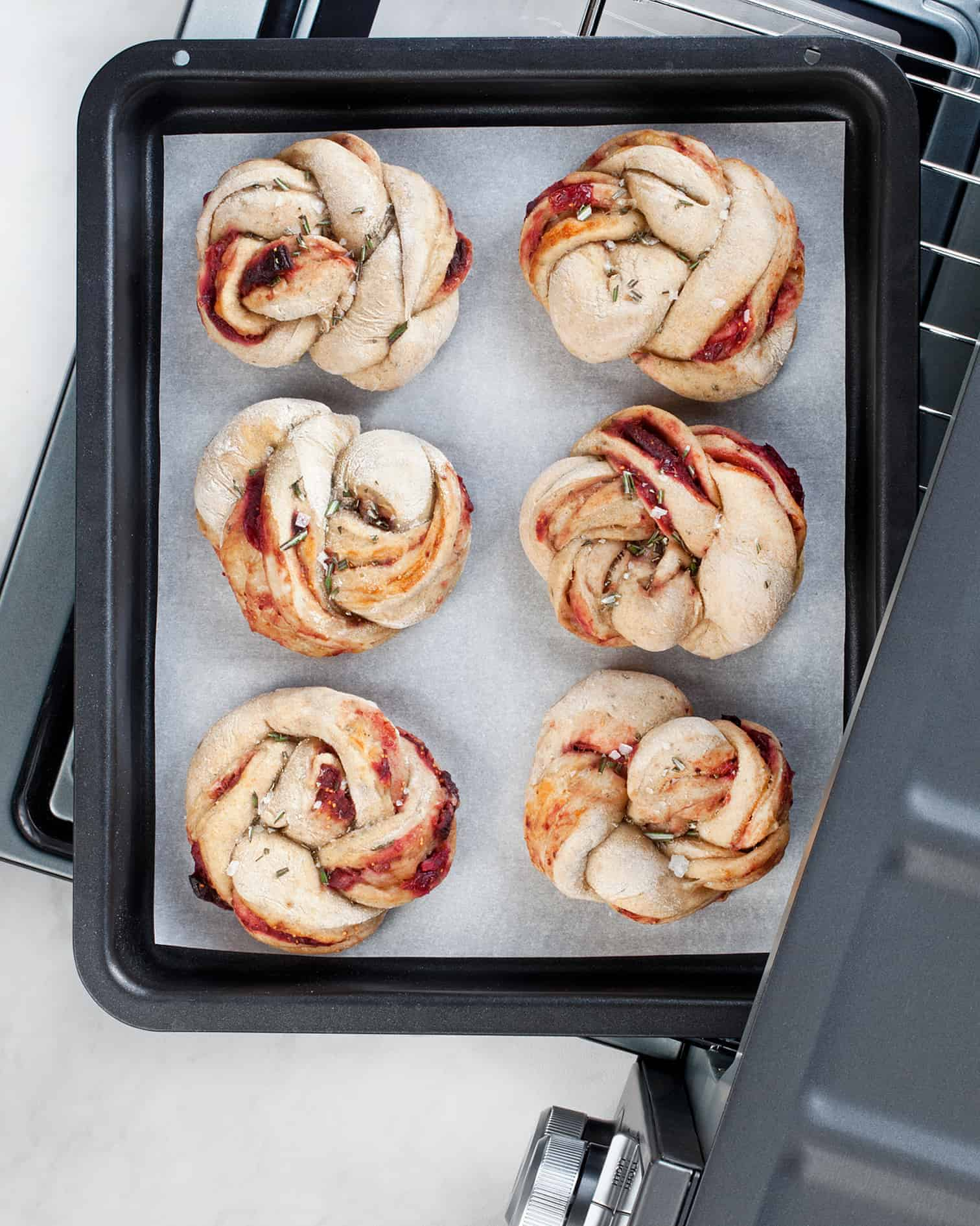Braided Cranberry Fig Rolls