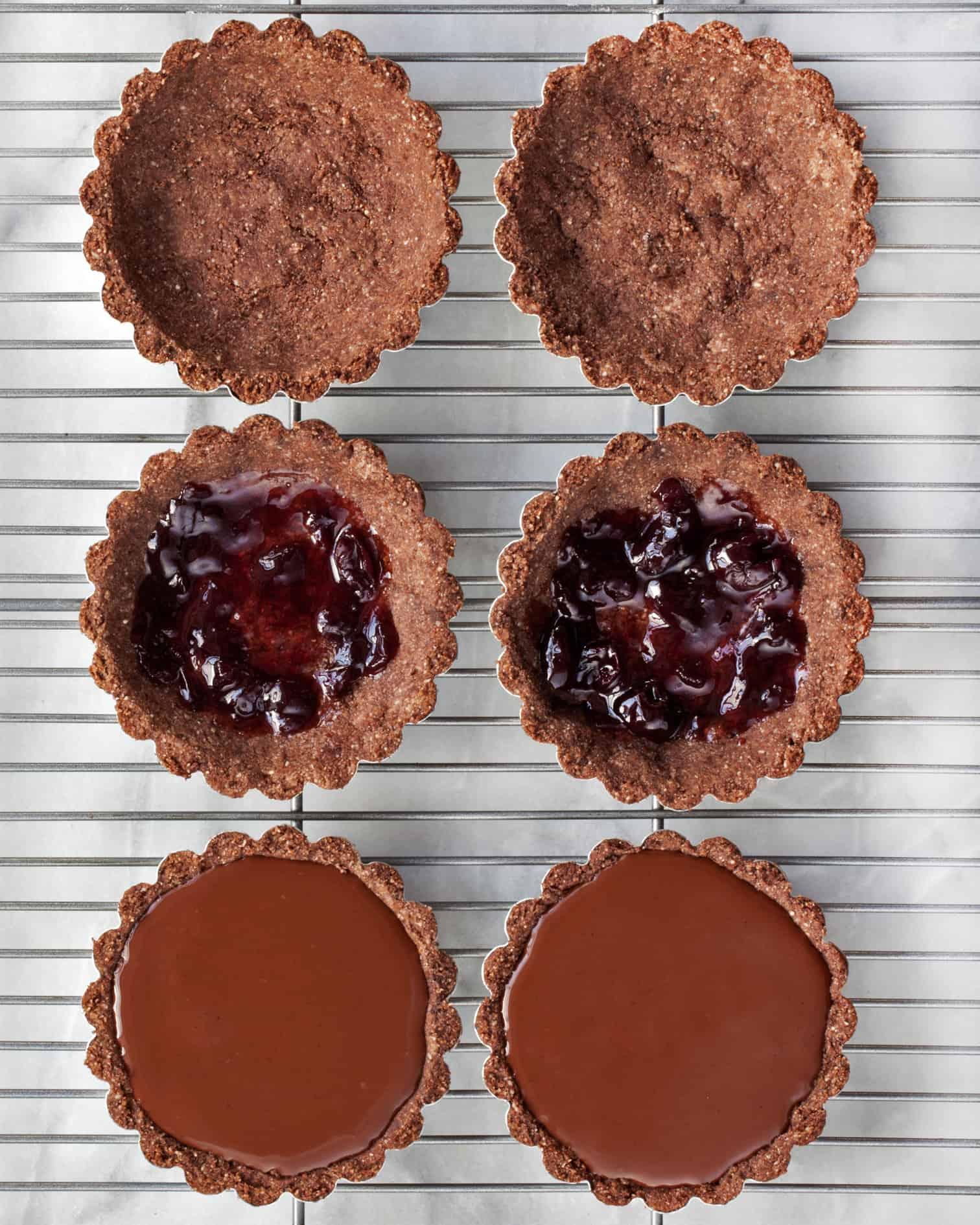 Vegan Chocolate Cherry Tartlets