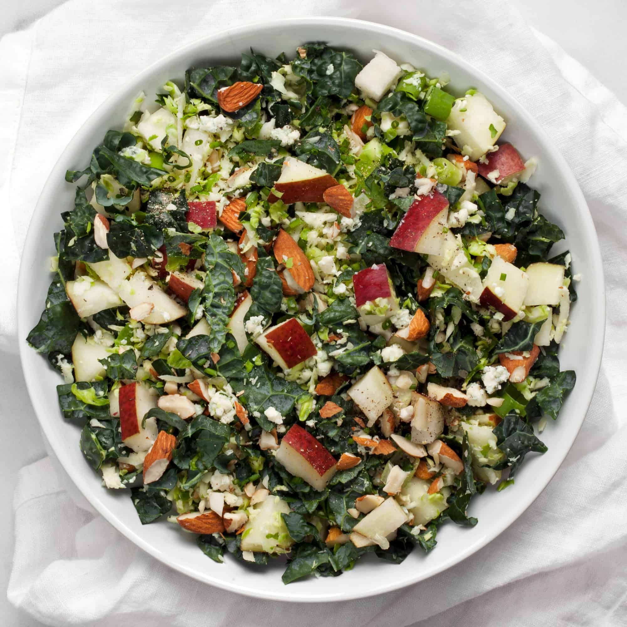 Kale Brussels Sprout and Pear Salad