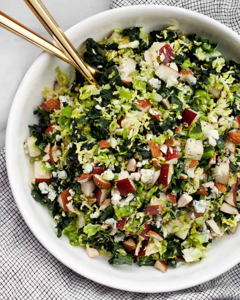 Kale Brussels Sprout Pear Salad
