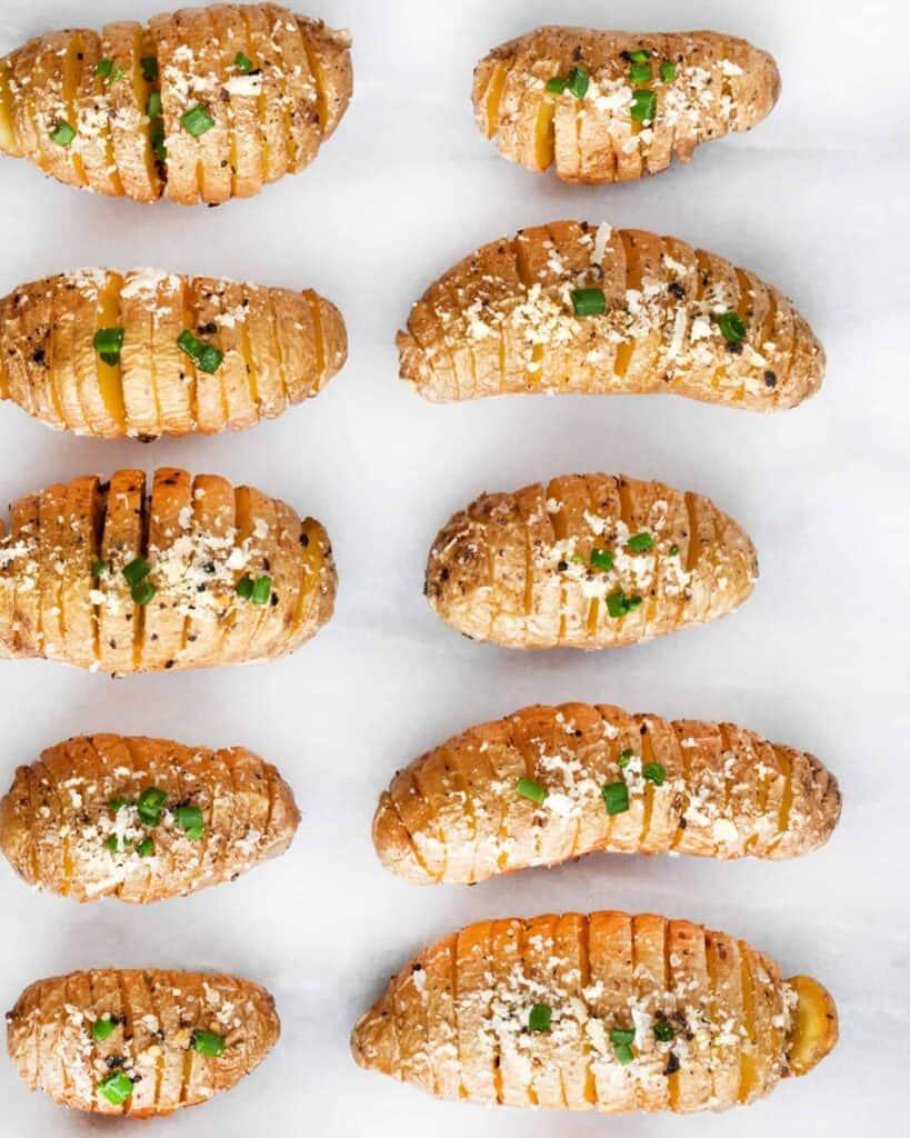 Parmesan Hasselback Potato Bites