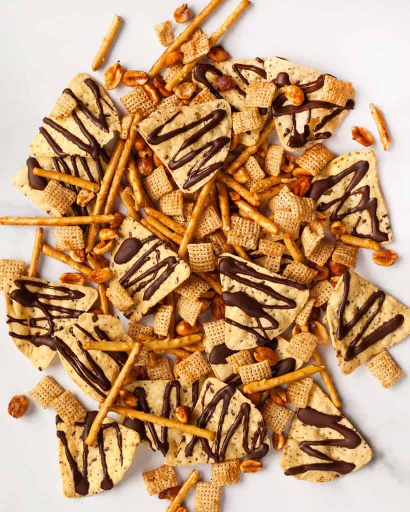 Spicy and Sweet Chipotle Snack Mix