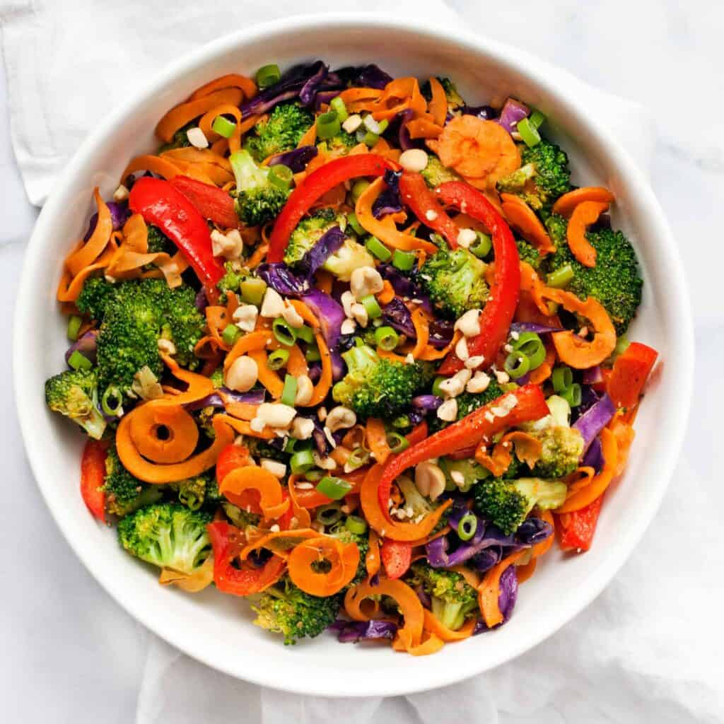 Rainbow Vegetable Peanut Stir-Fry