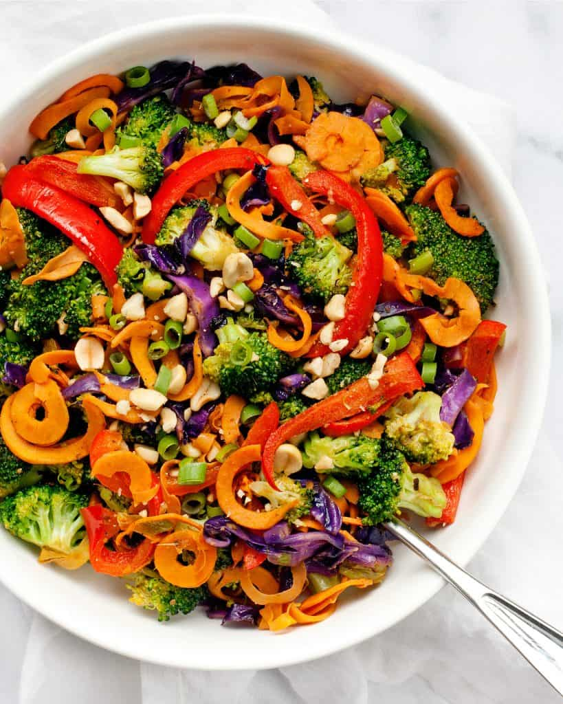 Rainbow Vegetable Peanut Stir-Fry