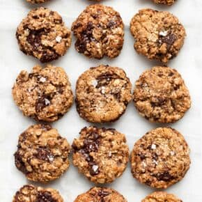 Salted Oatmeal Chocolate Chip Cookies