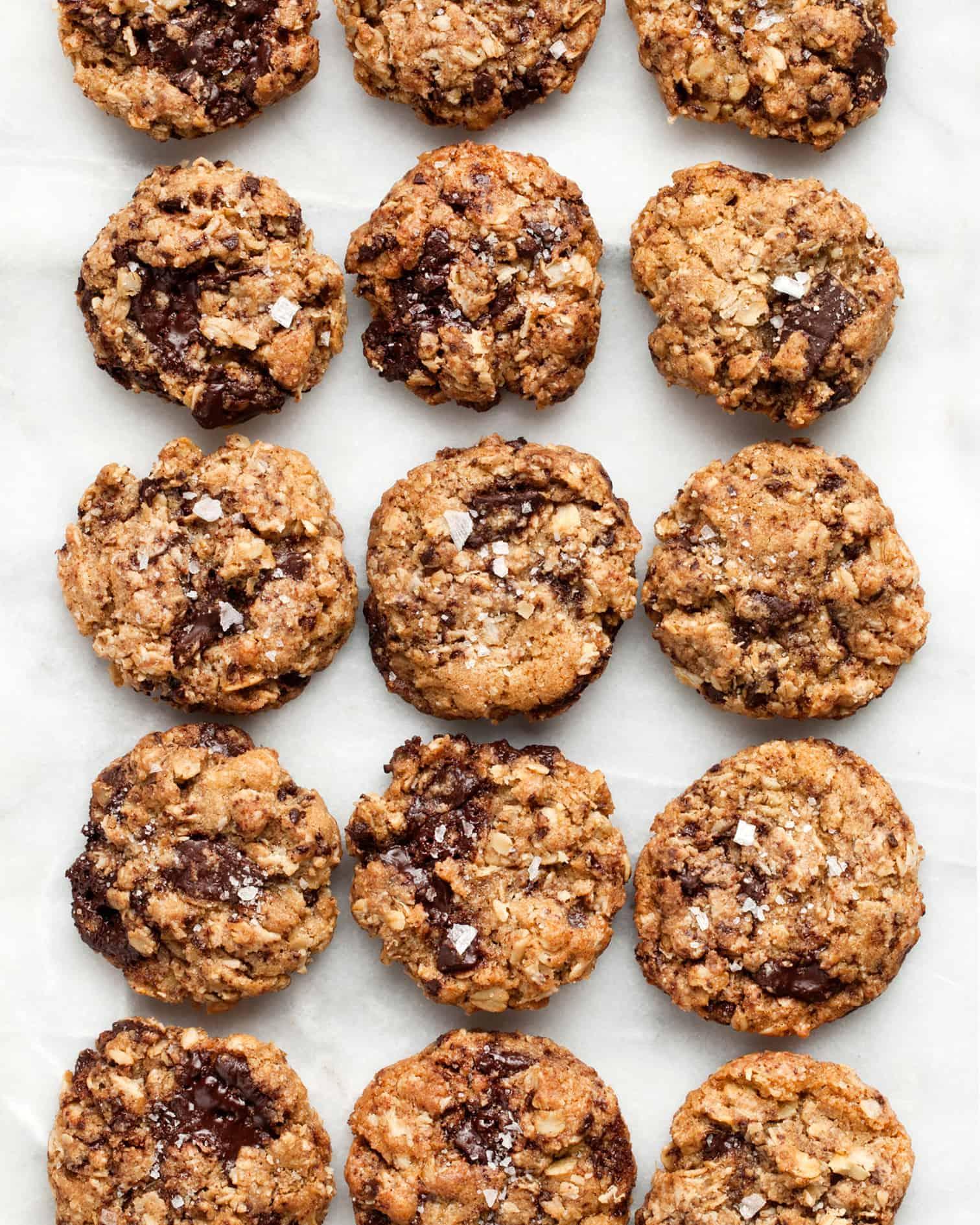 Salted Oatmeal Chocolate Chip Cookies Last Ingredient