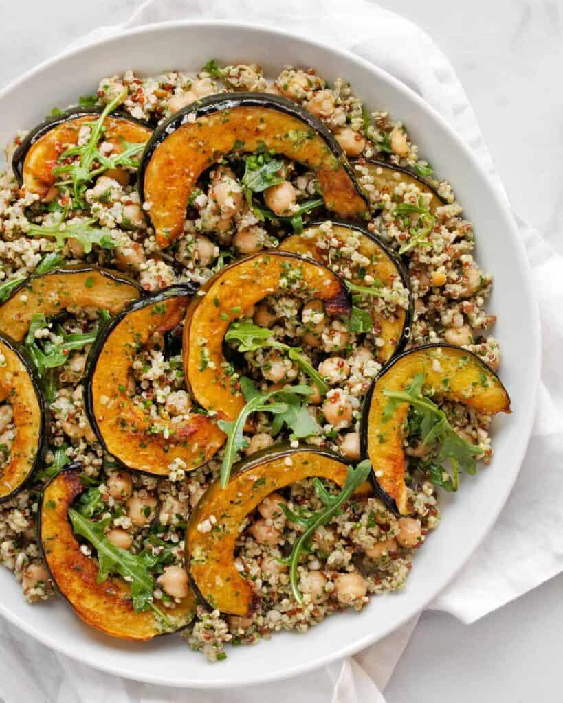 Acorn Squash Chickpea Quinoa