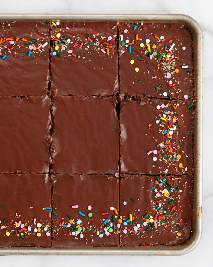 Chocolate Buttermilk Sheet Cake