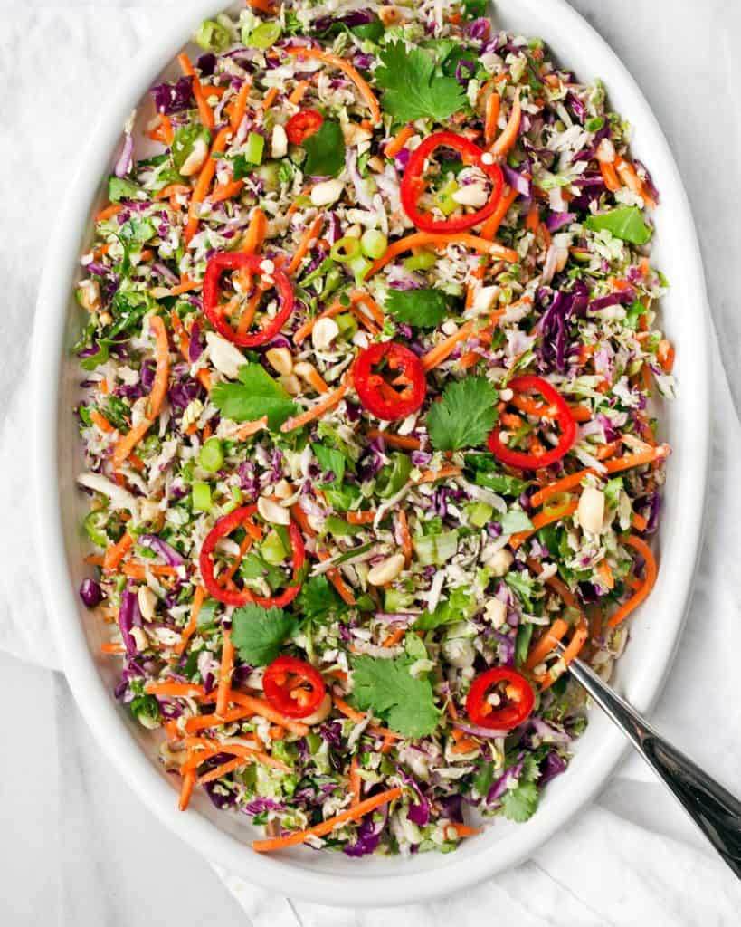 Crunchy Brussels Sprout Peanut Salad